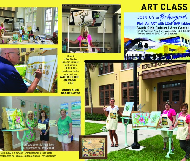 Calling Art Studentsi Am Proud To Announce Pat Andersons Plein Air Painting Classes At Fort Lauderdale Parks Recreational South Side Cultural Arts