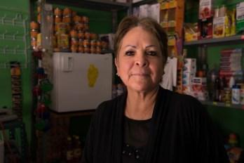 Maria Blanca Martinez Tapia at her tienda, Colonia Benito Juarez, Puebla.