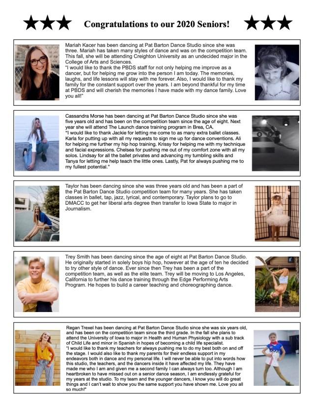 2020 Senior Page