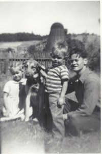 Sharon Kappes, Mark Doerr and LeRoy Doerr - Philomath, Oregon About 1947.