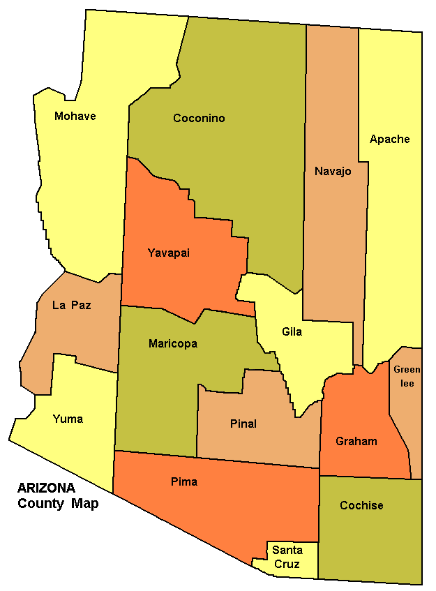 Arizona Counties Map