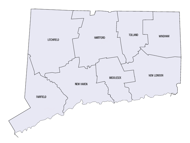 Connecticut Counties Map