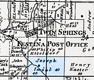 Imoehl Property 1886- Washington Township, Iowa, sections 23 & 24.