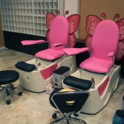 Pink Nail Salon Chairs Swing Chair Hs Code New Urbandale Offers Manis Pedis Facials And More 0