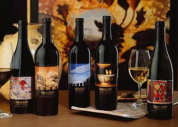 wine label art collection