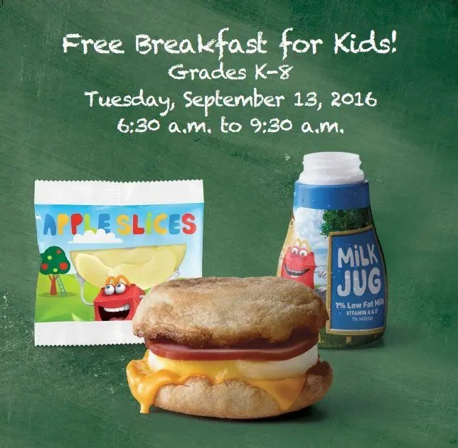 Free McDonald's Breakfast Offered To Kids on Tuesday ...