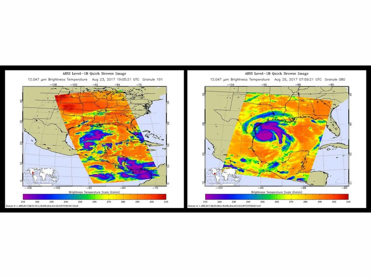 Hurricane Harvey Nasa Views From Space Show Storm S