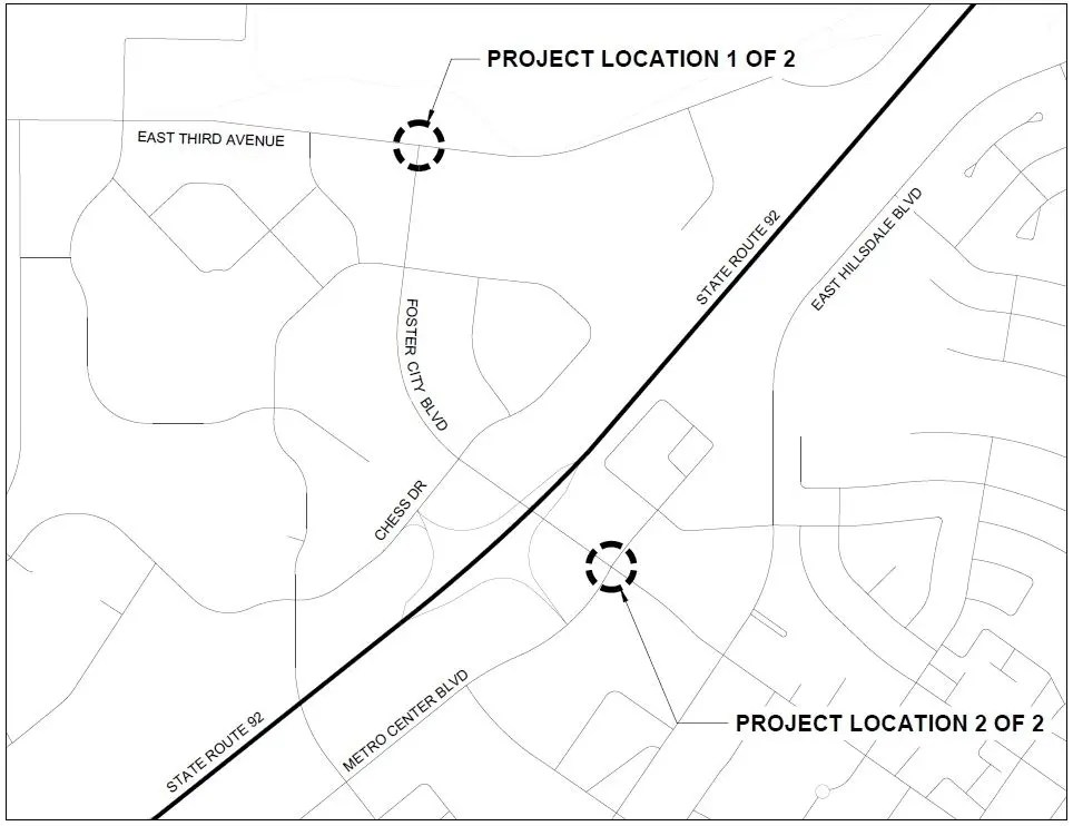 Foster City Advisory: Street Work Taking Place July 31-Aug