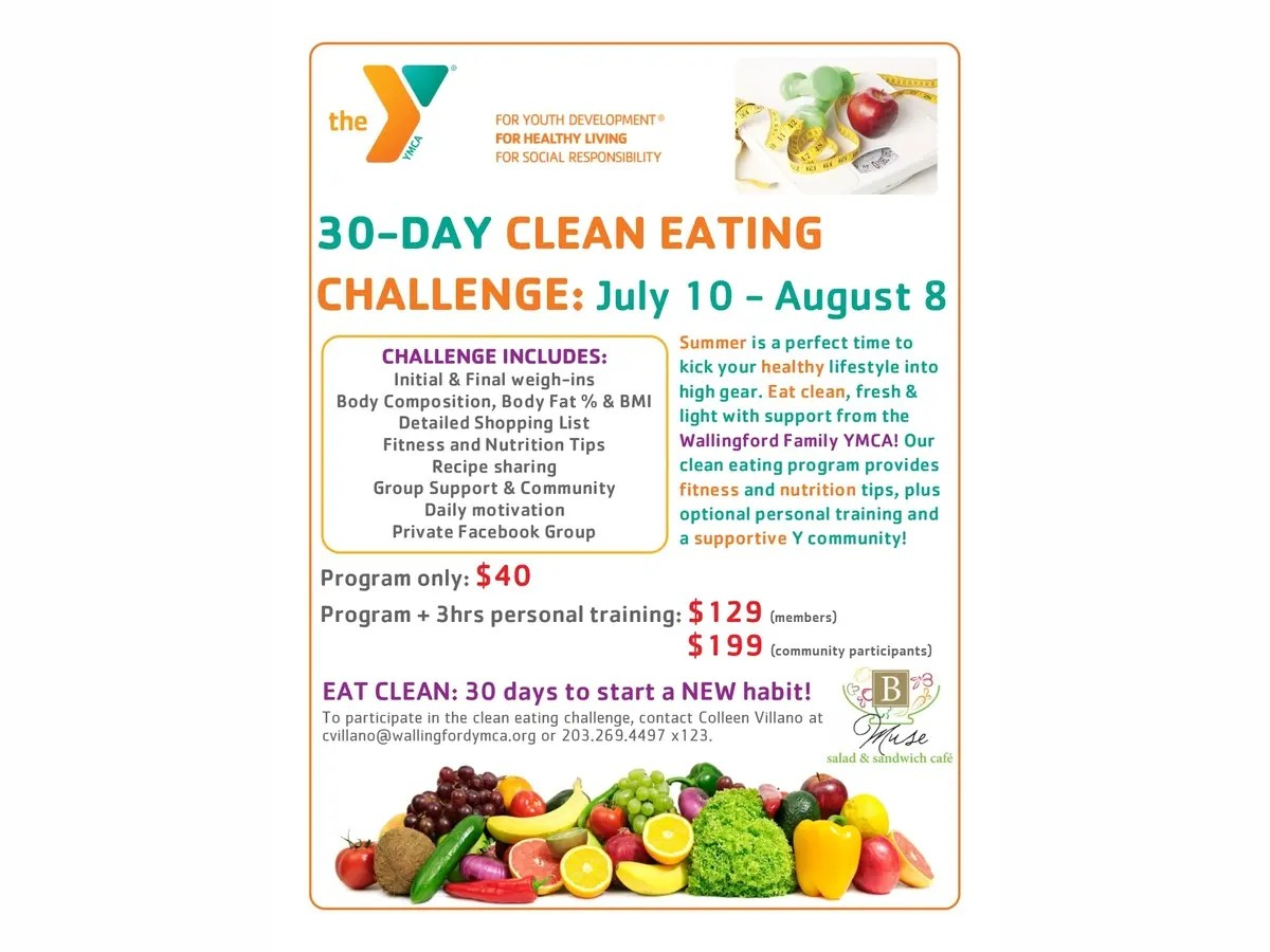 30 Day Clean Eating Challenge at the Wallingford Family YMCA | Wallingford. CT Patch