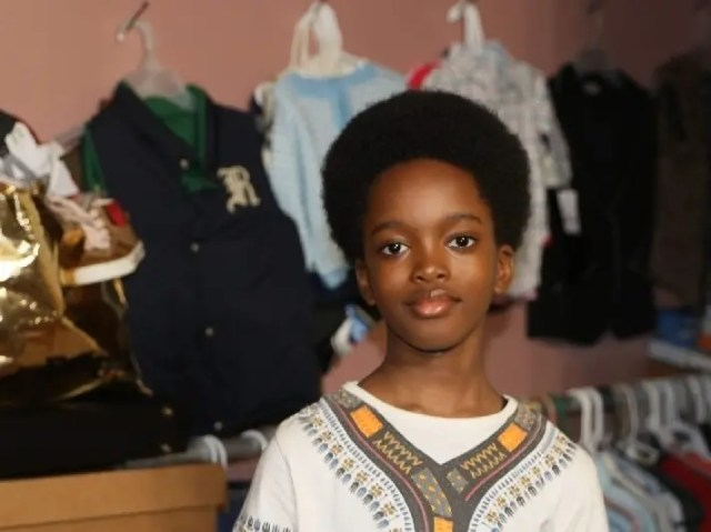 Obocho Peters, 10, was named a Brooklyn Hero of the Month for starting a business that helps low-income parents.