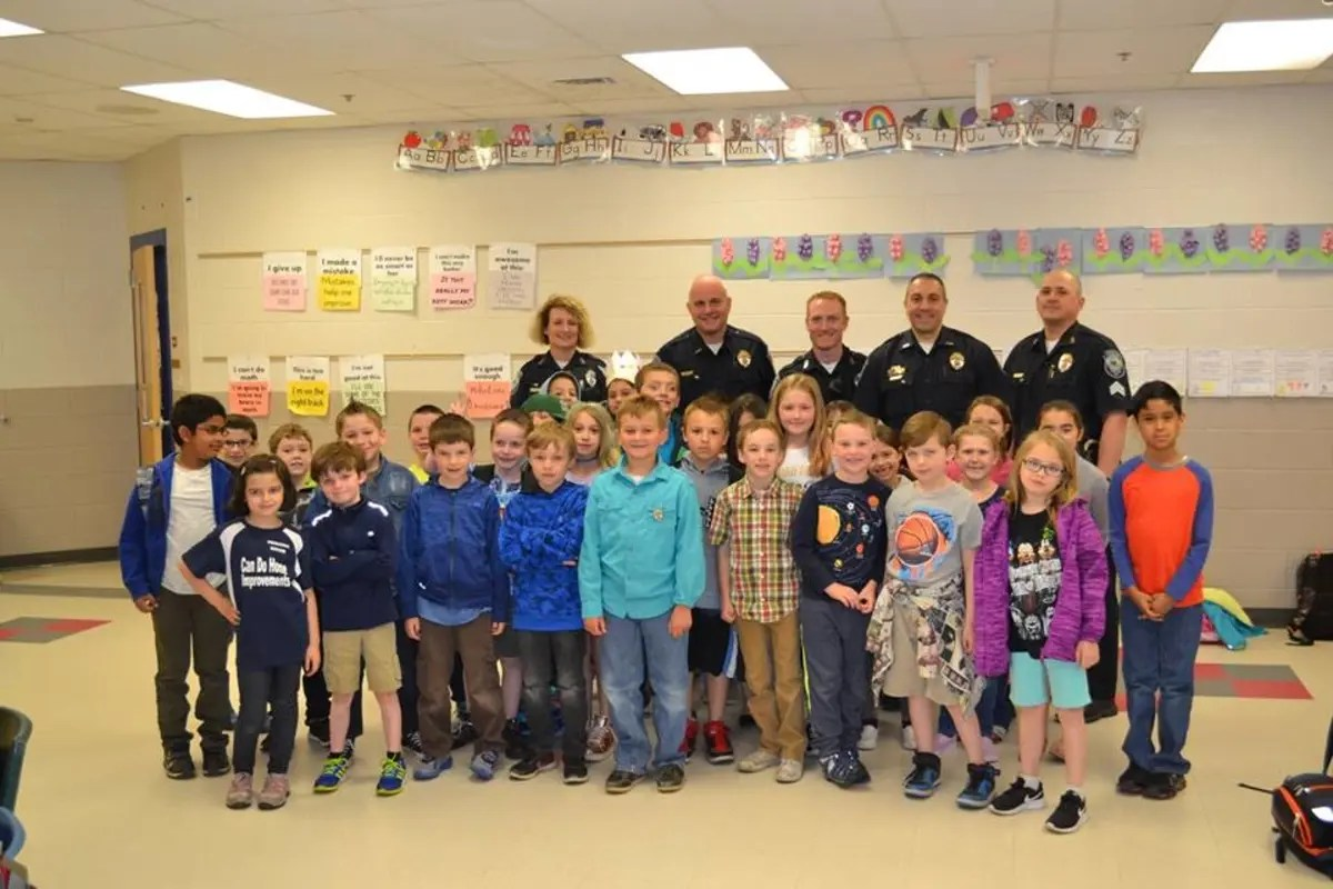 Elementary Students Picked For Police Officer For A Day