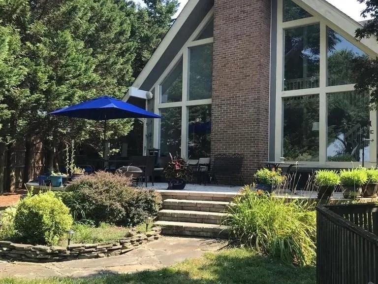 tiki bar patio set relaxing scene at