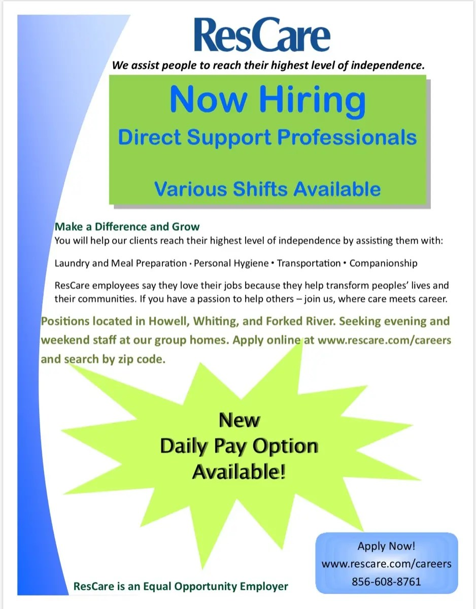 Direct Care Worker  Howell NJ Patch