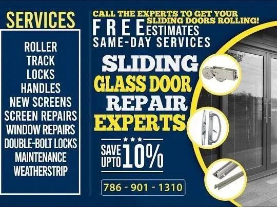 expert sliding glass door repair