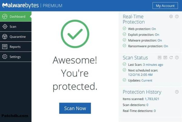 Malwarebytes Premium Crack 4.1.1.137 Patch + Key Free Download