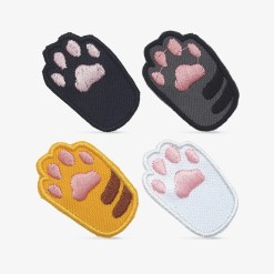 Patch Bordado patinhas de gato Kit com 4 unidades, com termocolante 3,2x5cm cada da PATCH GANG