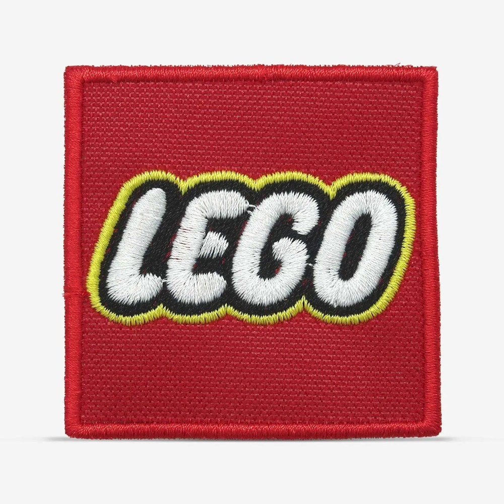 Patch Bordado Logo da Lego, com termocolante 6,1x6,1cm da PATCH GANG
