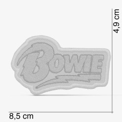 Patch Bordado Logo David Bowie amarelo, com termocolante 8,5x4,9cm da PATCH GANG