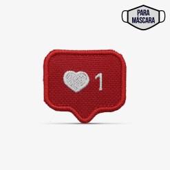 Patch Bordado Pequeno Coração do instagram, modinha, com termocolante 3,5x3,1cm da PATCH GANG