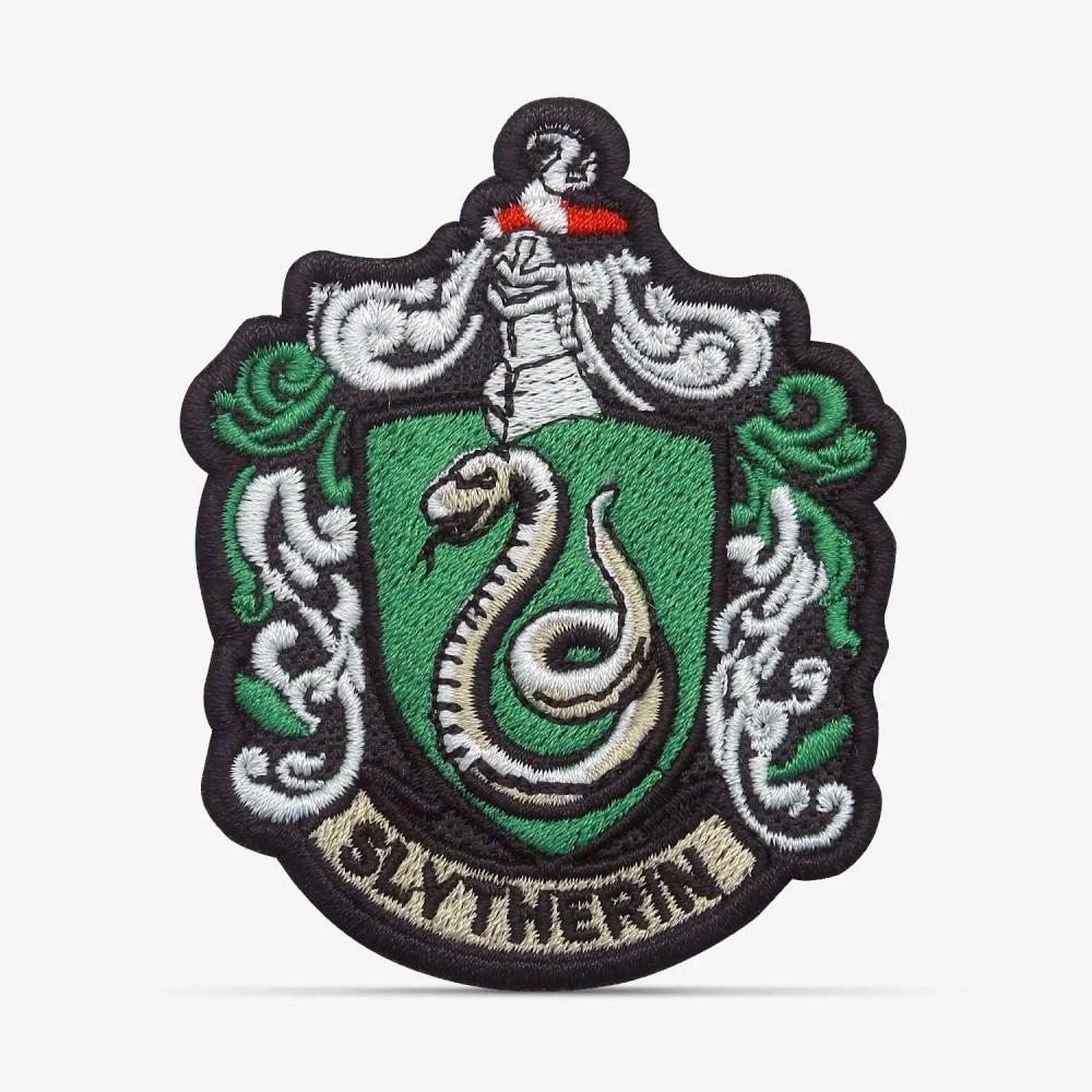patch bordado adesivo termocolante customização harry potter sonserina SLYTHERIN