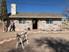 Rancher Hank Brackenbury walks in front of an old stone house at the 7J Ranch northeast of Beatty on Feb. 8, 2019. Henry Brean Las Vegas Review-Journal