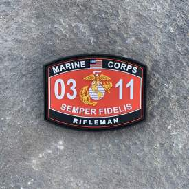 MOS 0311 Rifleman PVC Patch