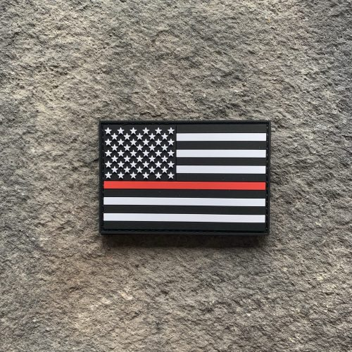 Thin Red Line Flag PVC Patch