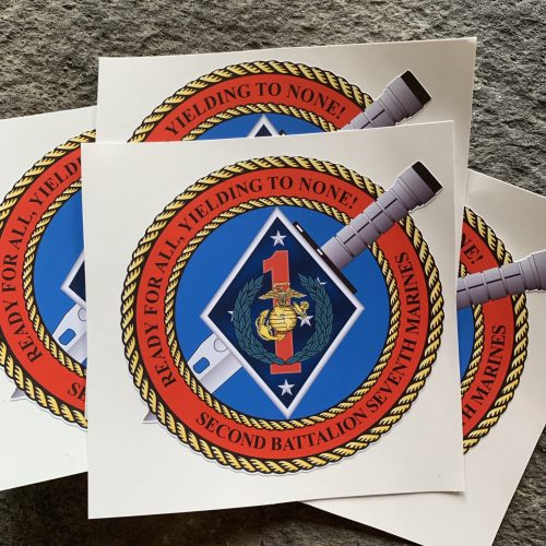 2/7 Ready For All, Yielding To None vinyl Sticker