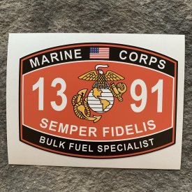 1391 Bulk Fuel Specialist Fathead style decal