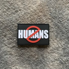 No Humans PVC Patch