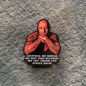 Joe Rogan Madness & Greatness Vinyl Decal
