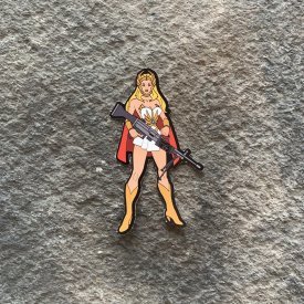 Machine Gun She-ra Vinyl Decal