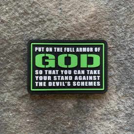 The Armor of God PVC Patch