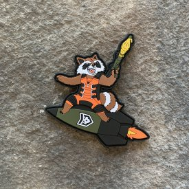 Rocket Raccoon PVC Patch