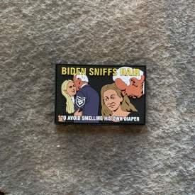 Joe Biden Sniffs Hair PVC Patch