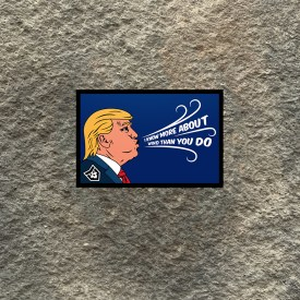 Trump:  I Know More About Wind Than You Do Vinyl Decal