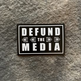 Defund the Media-Black Vinyl Decal
