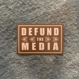 Defund the Media-  Brown Vinyl Decal