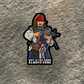 Jack Sparrow 240 Why is the Ammo always gone Vinyl Decal
