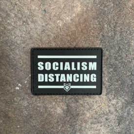 Socialism Distancing Glow in the Dark PVC Patch