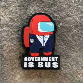 Parody:  Among Us Government is Sus PVC Patch