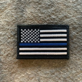 Embroidered Thin Blue Line Patch