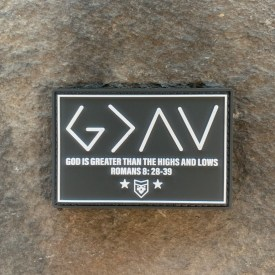God is Greater than the Highs and Lows PVC Morale Patch
