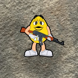 Tactical Yellow M&M Vinyl Decal