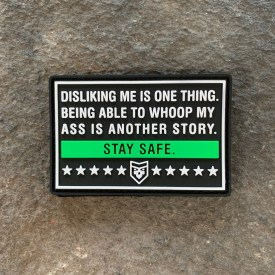 Disliking me is one thing PVC Morale Patch
