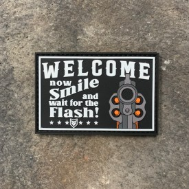 Welcome Smile and Wait for the Flash PVC Morale Patch