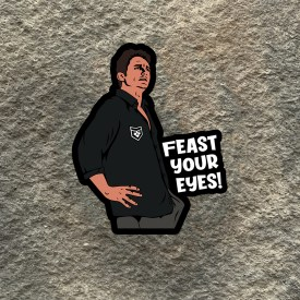 The Interview:  Feast Your Eyes Vinyl Decal