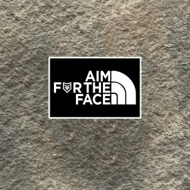 Aim for the Face Vinyl Decal