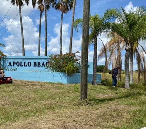 Apollo Beach, FL welcome sign