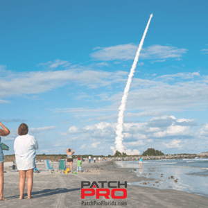 Florida beach you can watch rockets launch to space from